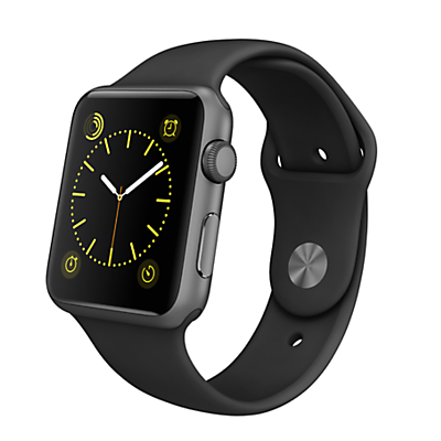 Apple Watch Sport with 42mm Space Grey Aluminium Case & Sport Band, Black
