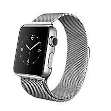 Buy Apple Watch with 38mm Stainless Steel Case & Milanese Loop Online at johnlewis.com