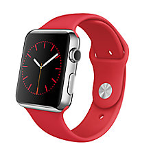 Buy Apple Watch with 42mm Stainless Steel Case & Sport Band Online at johnlewis.com