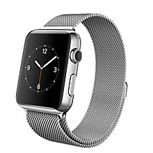 Buy Apple Watch with 42mm Stainless Steel Case & Milanese Loop Online at johnlewis.com