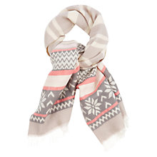 Buy Oasis Prague Fairisle Stripe Scarf, Multi Online at johnlewis.com