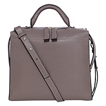 Buy Karen Millen Leather Box Bag, Taupe Online at johnlewis.com