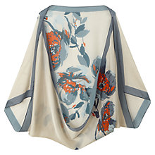 Buy Jigsaw Silk Blossom Print Cape, Ivory Online at johnlewis.com