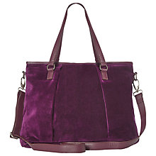 Buy White Stuff Velvet Theresa Slouch Tote Bag, Eclectic Online at johnlewis.com