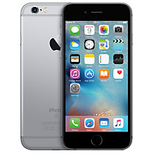 "Buy New Apple iPhone 6s, iOS, 4.7"", 4G LTE, SIM Free, 128GB Online at johnlewis.com"
