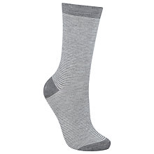 Buy John Lewis Viscose Feeder Stripe Ankle High Socks, Pack of 1 Online at johnlewis.com