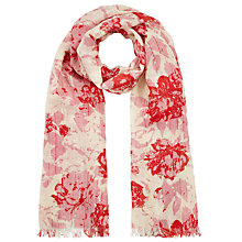 Buy John Lewis Ice Cream Floral Scarf, Red/Blush Online at johnlewis.com