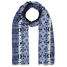 Buy John Lewis Batik Placement Scarf, Blue Online at johnlewis.com