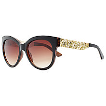 Buy John Lewis Embellished Cat's Eye Sunglasses, Brown Online at johnlewis.com