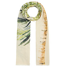 Buy John Lewis Wool and Silk Blend Double Watercolour Palm Scarf, Multi Online at johnlewis.com