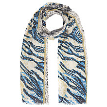 Buy Lola Rose Luxitude Animal Print Scarf, Teal/Ivory Online at johnlewis.com