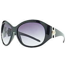 Buy John Lewis Large Faux Pearl Contrast Oval Sunglasses, Black Online at johnlewis.com