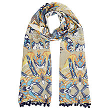 Buy Lola Rose Tahiti Twist Bird Scarf, Taupe/Multi Online at johnlewis.com