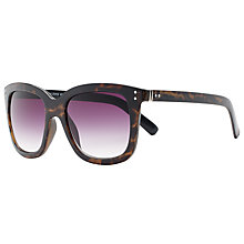Buy John Lewis Shiny Square Gradient Sunglasses, Tortoise Online at johnlewis.com