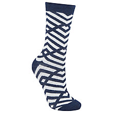 Buy John Lewis Viscose Criss Cross Ankle Socks, Pack of 1 Online at johnlewis.com