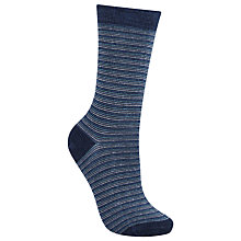 Buy John Lewis Viscose Mini Stripe Ankle Socks, Pack of 1 Online at johnlewis.com