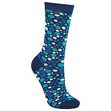 Buy John Lewis Big Spot Socks, Navy/Blue Online at johnlewis.com