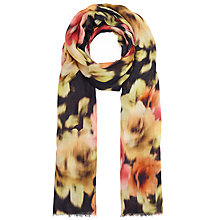 Buy John Lewis Blurred Rose Scarf, Black/Multi Online at johnlewis.com