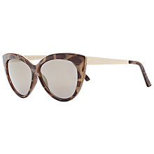 Buy John Lewis Metal Arm Cat's Eye Sunglasses, Tortoise Online at johnlewis.com