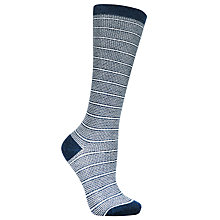 Buy John Lewis Stripe Dot Socks, Navy/White Online at johnlewis.com