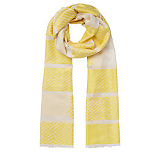 Buy John Lewis Kin Modular Stripe Scarf, Yellow Online at johnlewis.com