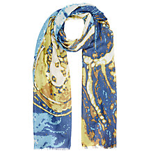 Buy Lola Rose Aquarius Marble Scarf, Blue/Yellow Online at johnlewis.com