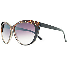 Buy John Lewis Contrast Brow Cat's Eye Gradient Sunglasses, Black/Tortoise Online at johnlewis.com