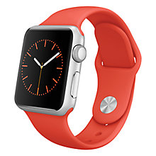 Buy Apple Watch Sport with 38mm Silver Aluminium Case & Sport Band Online at johnlewis.com
