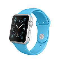 Buy Apple Watch Sport with 42mm Silver Aluminium Case & Sport Band Online at johnlewis.com