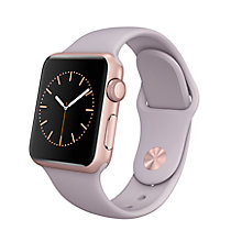 Buy Apple Watch Sport with 38mm Rose Gold Aluminium Case & Sport Band, Lavender Online at johnlewis.com