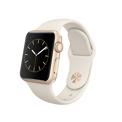 Apple Watch Sport with 38mm Gold Aluminium Case & Sport Band, Antique White