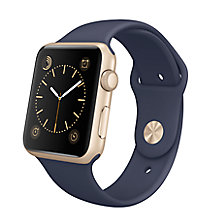 Buy Apple Watch Sport with 42mm Gold Aluminium Case & Sport Band, Midnight Blue Online at johnlewis.com