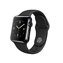 Buy Apple Watch with 38mm Space Black Stainless Steel Case & Sport Band, Black Online at johnlewis.com