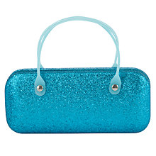 Buy John Lewis Girls' Glitter Sunglasses Case, Blue Online at johnlewis.com