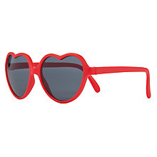 Buy John Lewis Love Heart Sunglasses, Red Online at johnlewis.com