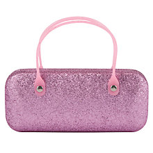 Buy John Lewis Girls' Glitter Sunglasses Case, Pink Online at johnlewis.com