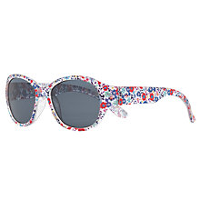 Buy John Lewis Ditsy Sunglasses, Red/Multi Online at johnlewis.com