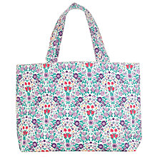 Buy John Lewis Large Daisy Chain Print Craft Shopper Bag, Lilac Online at johnlewis.com