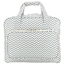 Buy John Lewis Zig Zag Print Sewing Machine Bag, Grey Online at johnlewis.com