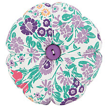Buy John Lewis Daisy Chain Print Pin Cushion, Purple Online at johnlewis.com