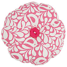 Buy John Lewis Robin Print Pin Cushion, Pink Online at johnlewis.com