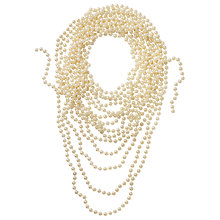 Buy John Lewis Bridal Faux Pearl Beads, 10m, Silver Online at johnlewis.com