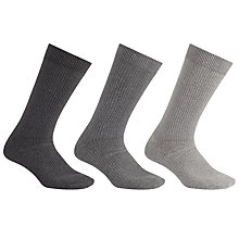 Buy Kin by John Lewis Socks, Pack of 3, One Size, Grey Online at johnlewis.com