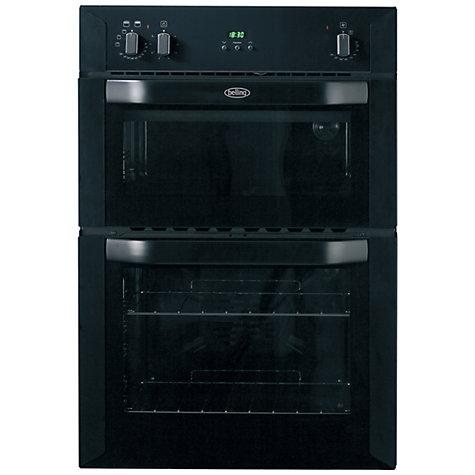 buy belling bi90fp built in double oven black john lewis. Black Bedroom Furniture Sets. Home Design Ideas