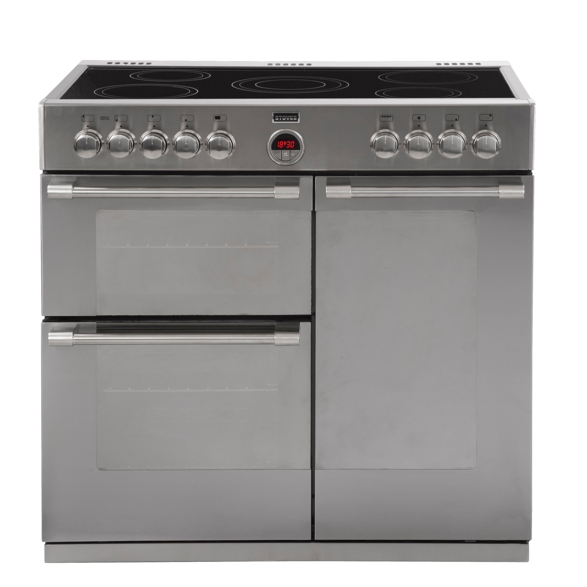 Stoves Stoves Sterling 900E Electric Range Cooker, Stainless Steel