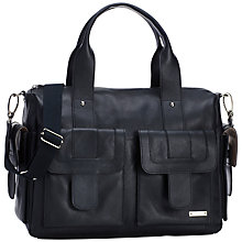 Buy Storksak Sofia Leather Baby Changing Bag, Black Online at johnlewis.com
