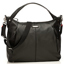 Buy Storksak Catherine Leather Changing Bag, Black Online at johnlewis.com