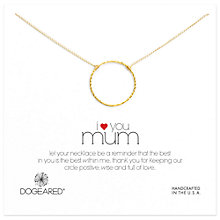 Buy Dogeared Mum Sparkle Karma Necklace Online at johnlewis.com