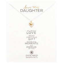 Buy Dogeared 14kt Gold Plated Sterling Silver Love My Daughter Double Heart Reminder Boxed Necklace, Silver/Gold Online at johnlewis.com