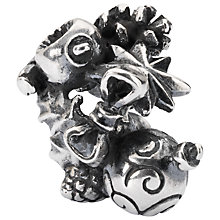 Buy Trollbeads Sterling Silver Go Christmas Crazy Bead, Silver Online at johnlewis.com